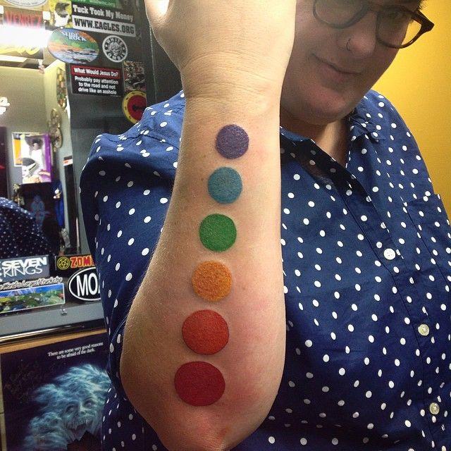 Rainbow Tattoo Designs (9)