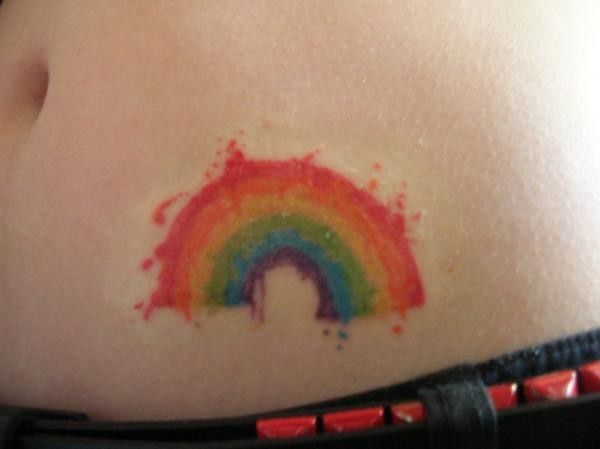 Rainbow Tattoo Designs (91)