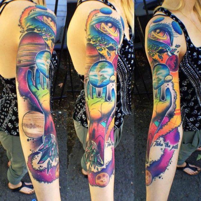 Rainbow Tattoo Designs (94)