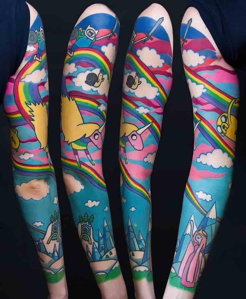 Rainbow Tattoo Designs (95)