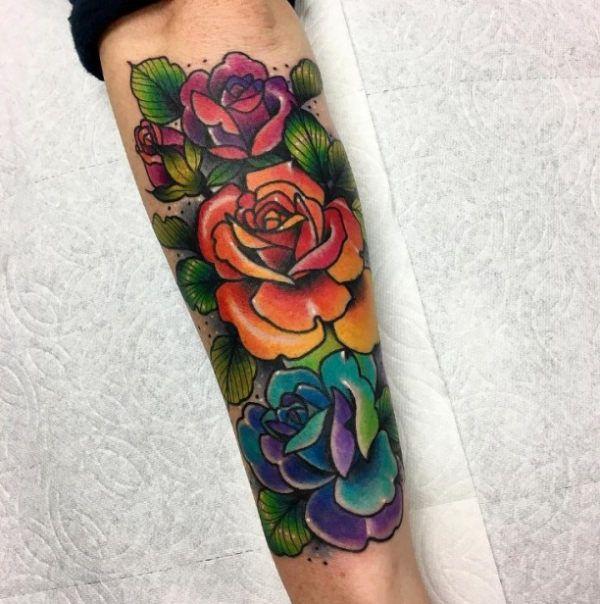 Rainbow Tattoo Designs (96)