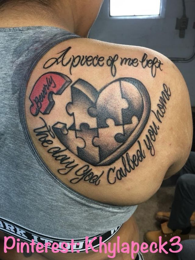 Rest In Peace Heart Tattoos (10)