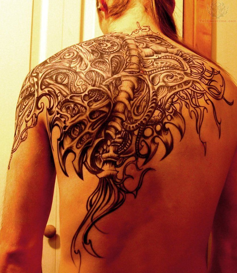 Shoulder And Chest Tattoos (1)