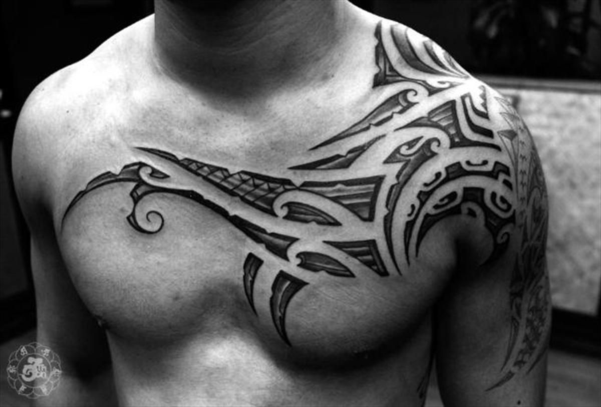 Shoulder And Chest Tattoos (6)