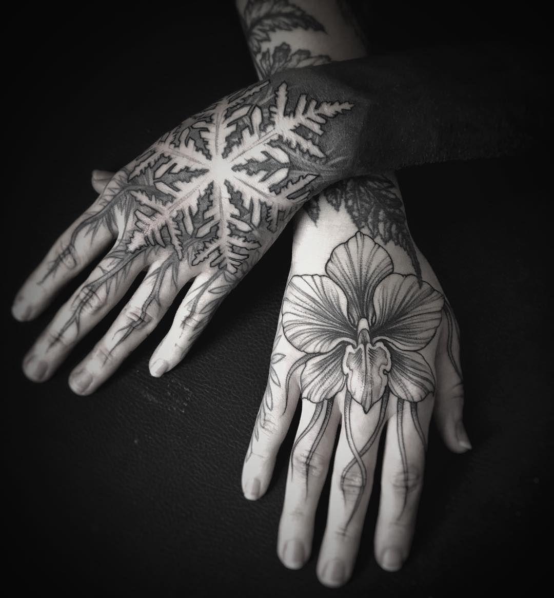 Snowflake Tattoo White Ink (13)
