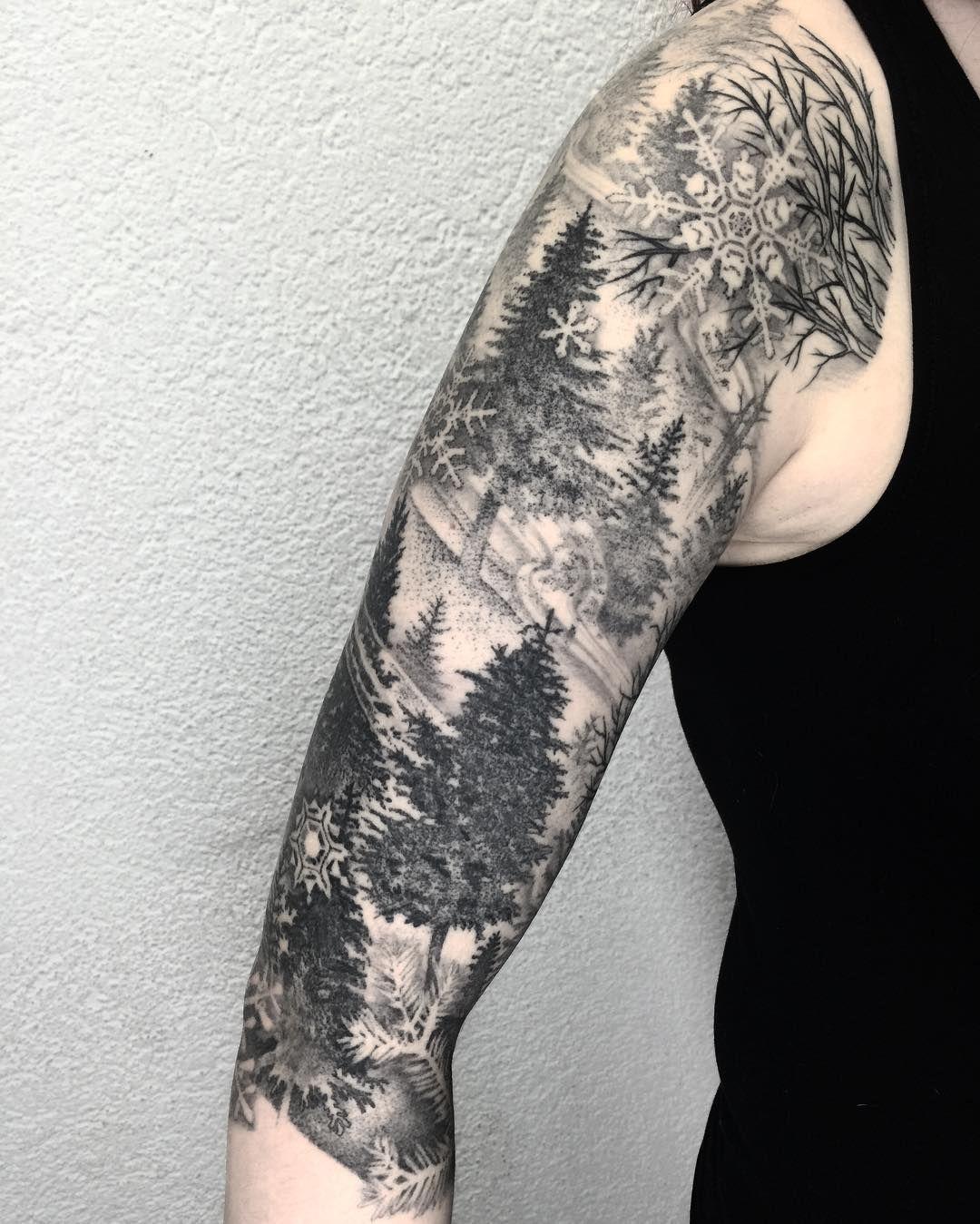 Snowflake Tattoo White Ink (2)
