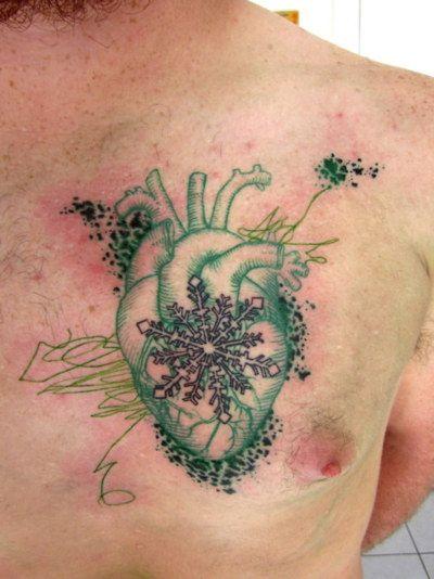 Snowflake Tattoo White Ink (6)