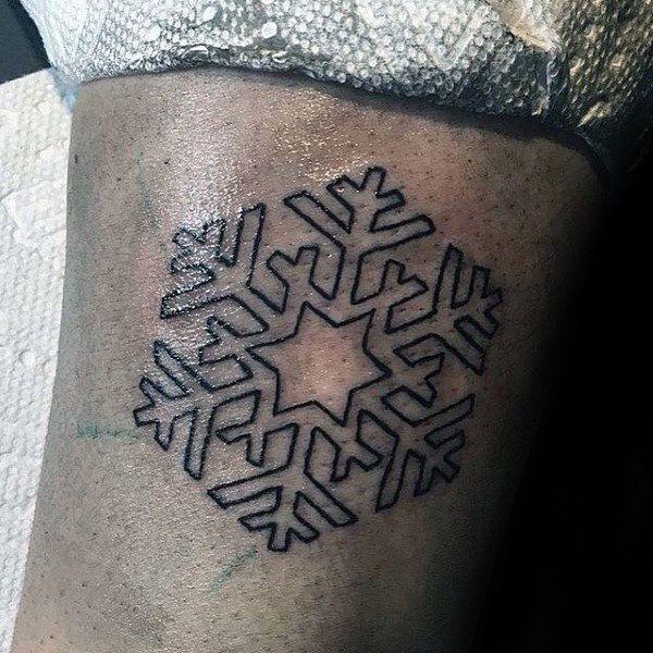 Snowflake Tattoo White Ink (8)