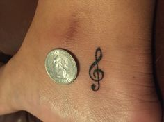 Treble And Bass Clef Heart Tattoo (4)