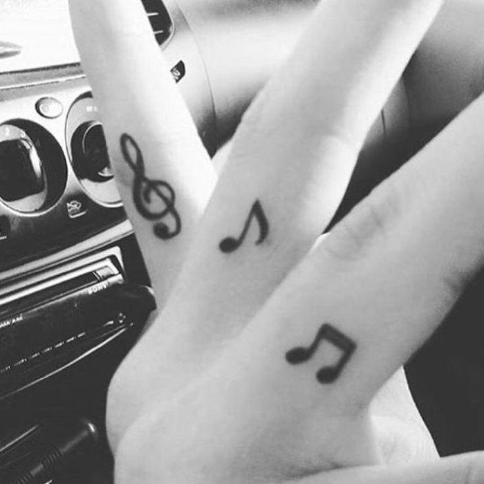 Treble Clef Bass Clef Tattoo (11)