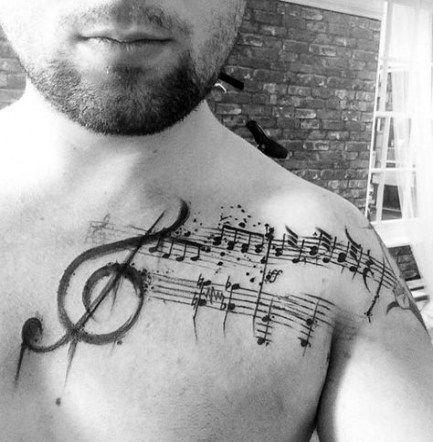 Treble Clef Bass Clef Tattoo (2)