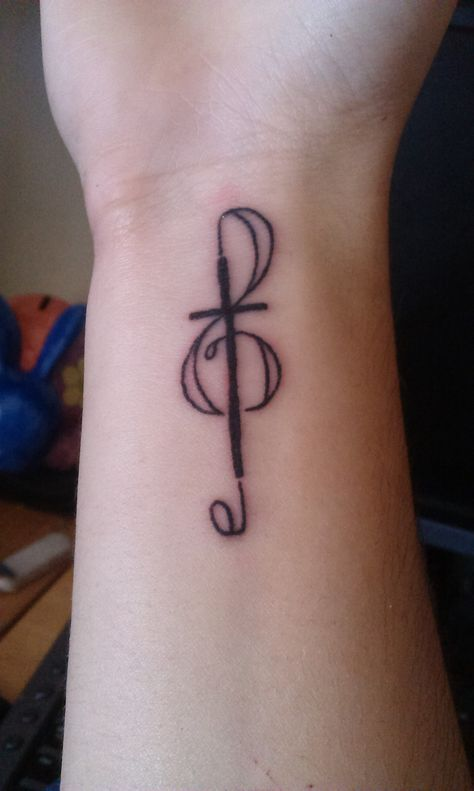 Treble Clef Heart Tattoos (1)