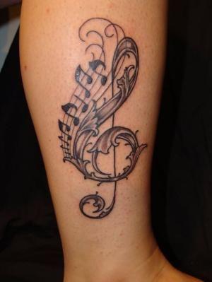Treble Clef Heart Tattoos (2)