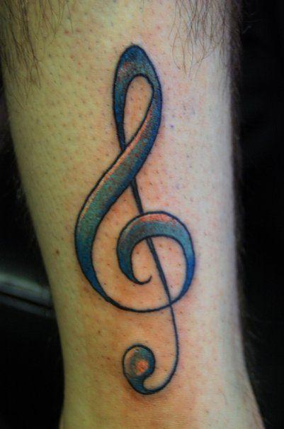 Treble Clef Heartbeat Tattoo (6)