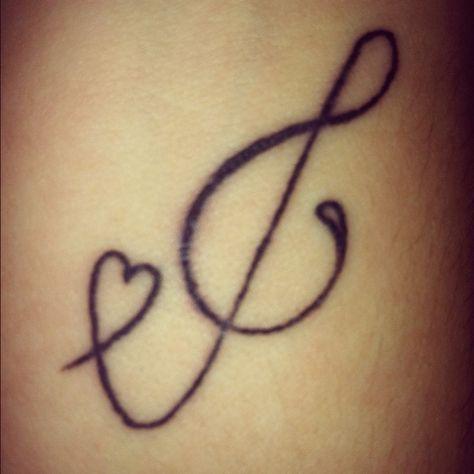 Treble Clef Tattoo (4)