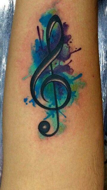 Treble Clef Tattoo Designs (2)