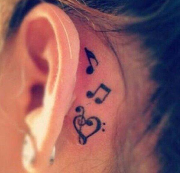 Treble Clef Tattoo Designs (8)