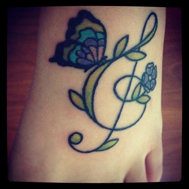 Treble Clef Tattoo Wrist (1)