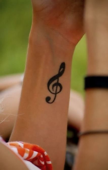 Treble Clef Tattoo Wrist (4)