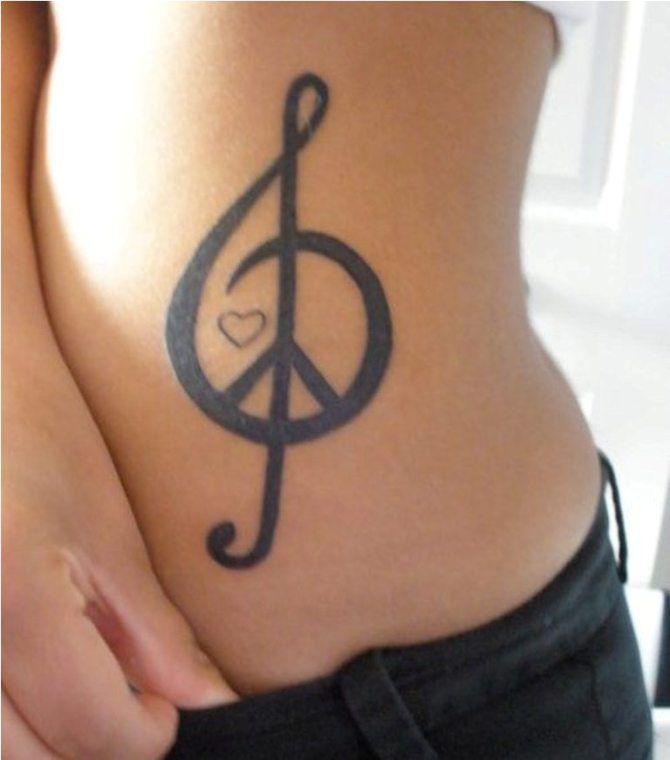 Treble Clef Tattoo Wrist (8)