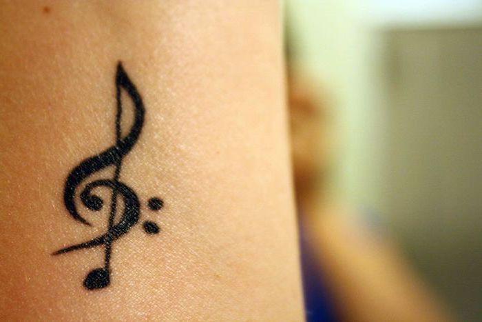 Treble Clef Tattoos (10)