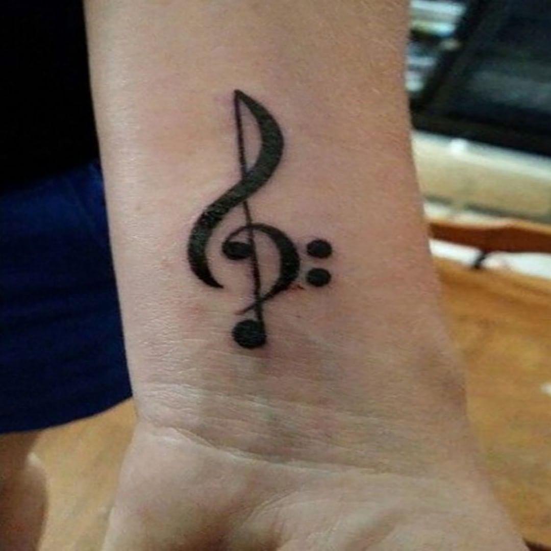 Treble Clef Tattoos (2)