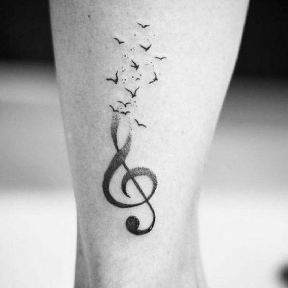 Treble Clef Tattoos (3)