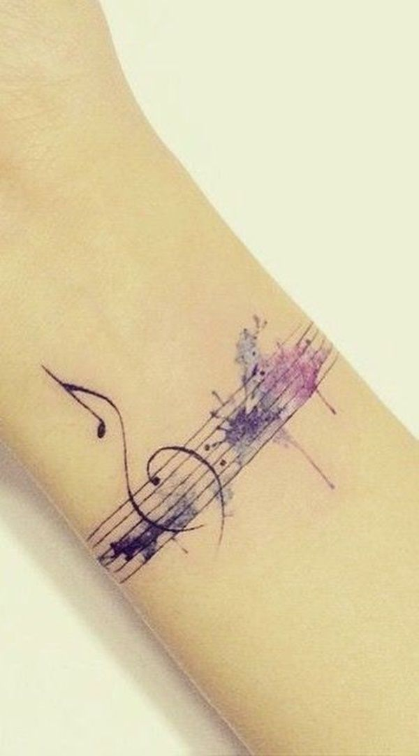 Treble Clef Tattoos (9)