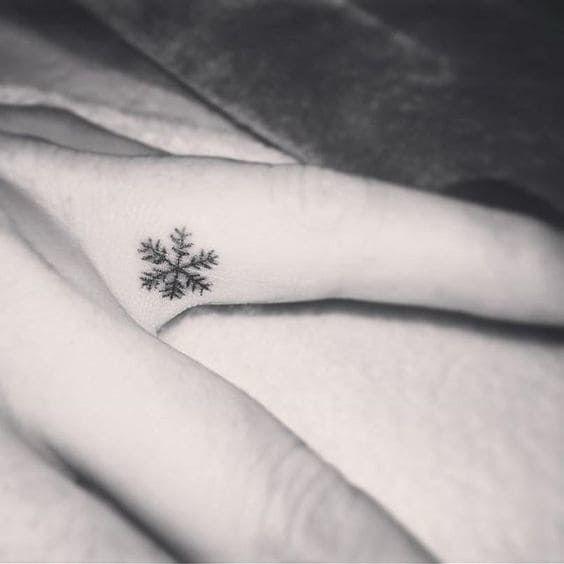 White Ink Snowflake Tattoo (7)