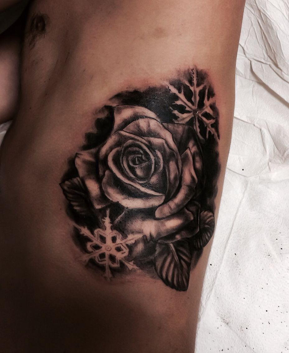 White Ink Snowflake Tattoo (8)