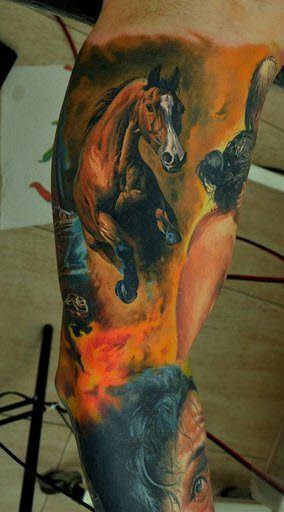 An Incredibly Realistic Horse Tattoo By Dmitriy Samohin Beautiful Body Art To Be Proud Of
