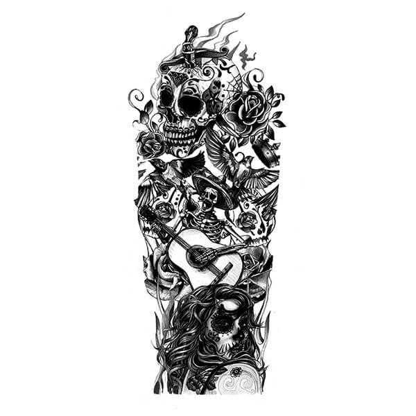 280 Best Sugar Skull Tattoo Designs With Meanings 2020 Dia De Los Muertos