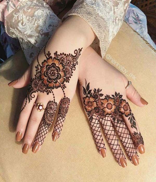 Arabic Dulhan Mehandi Dizain Photos (107)