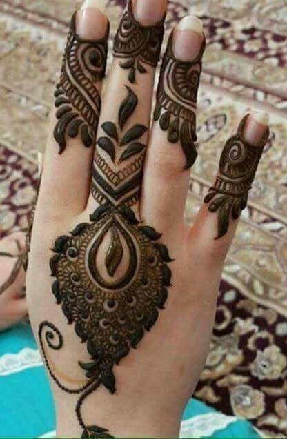 Arabic Dulhan Mehandi Dizain Photos (119)