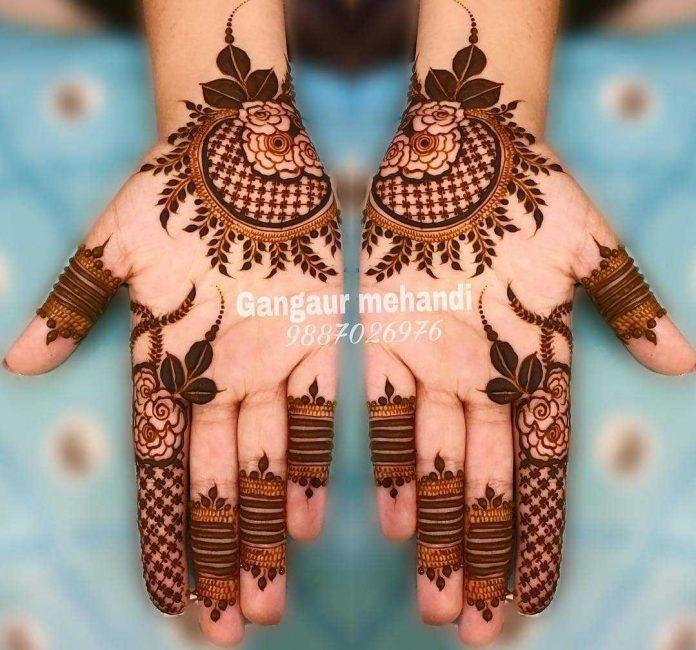 Arabic Dulhan Mehandi Dizain Photos (12)