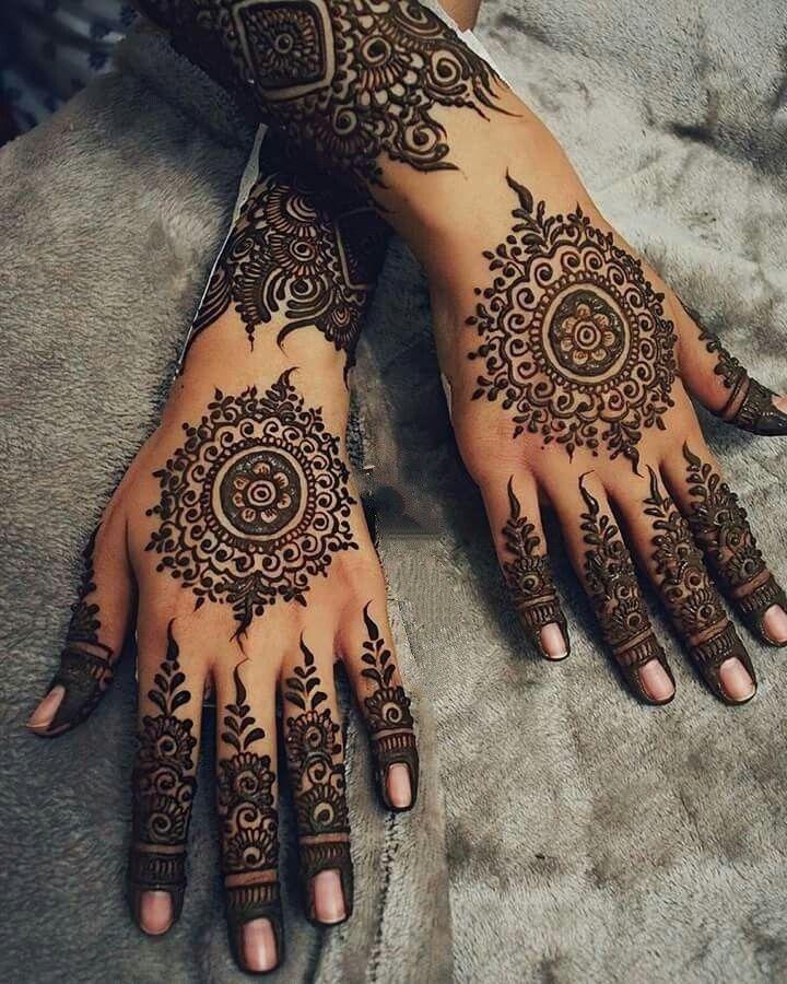 Arabic Dulhan Mehandi Dizain Photos (13)