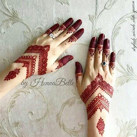 Arabic Dulhan Mehandi Dizain Photos (137)