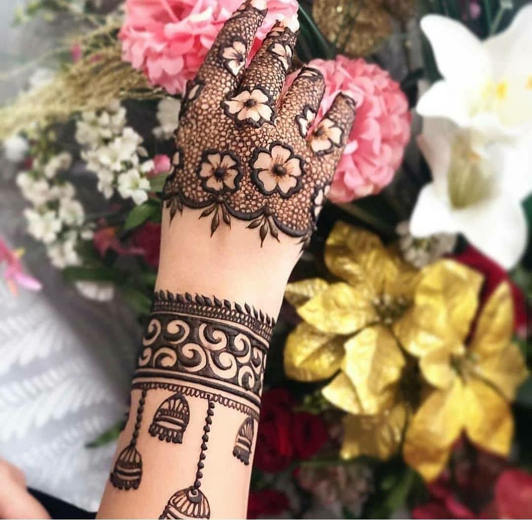Arabic Dulhan Mehandi Dizain Photos (144)