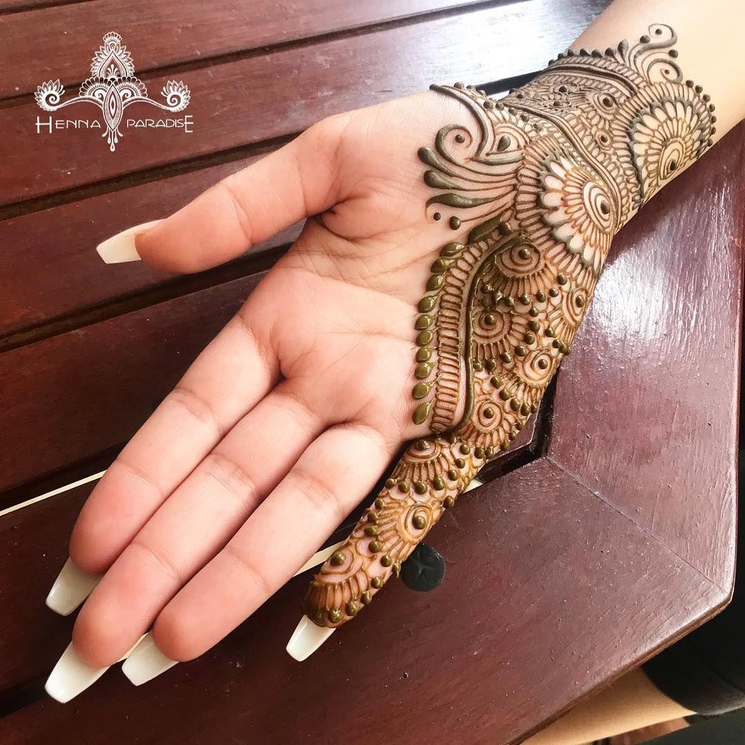 Arabic Dulhan Mehandi Dizain Photos (147)