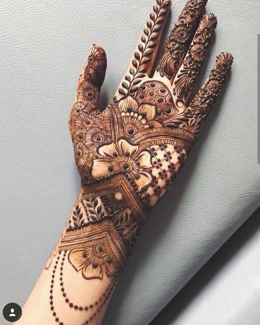 Arabic Dulhan Mehandi Dizain Photos (151)