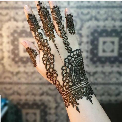 Arabic Dulhan Mehandi Dizain Photos (163)