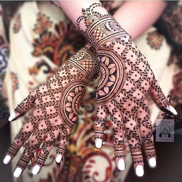 Arabic Dulhan Mehandi Dizain Photos (170)