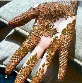Arabic Dulhan Mehandi Dizain Photos (214)