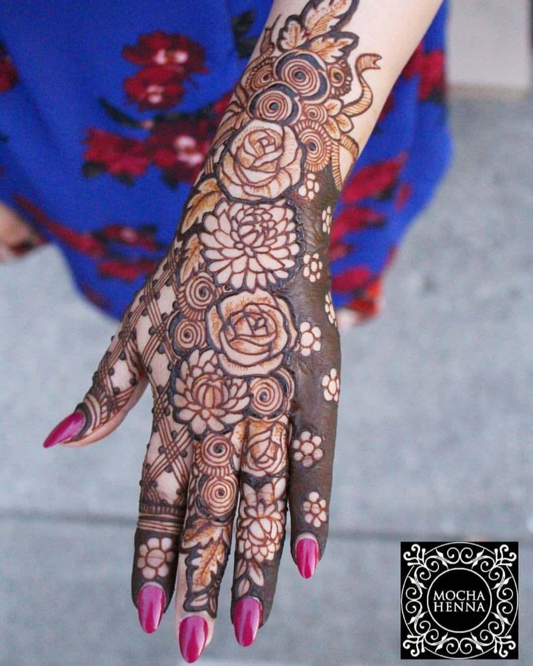 Arabic Dulhan Mehandi Dizain Photos (22)