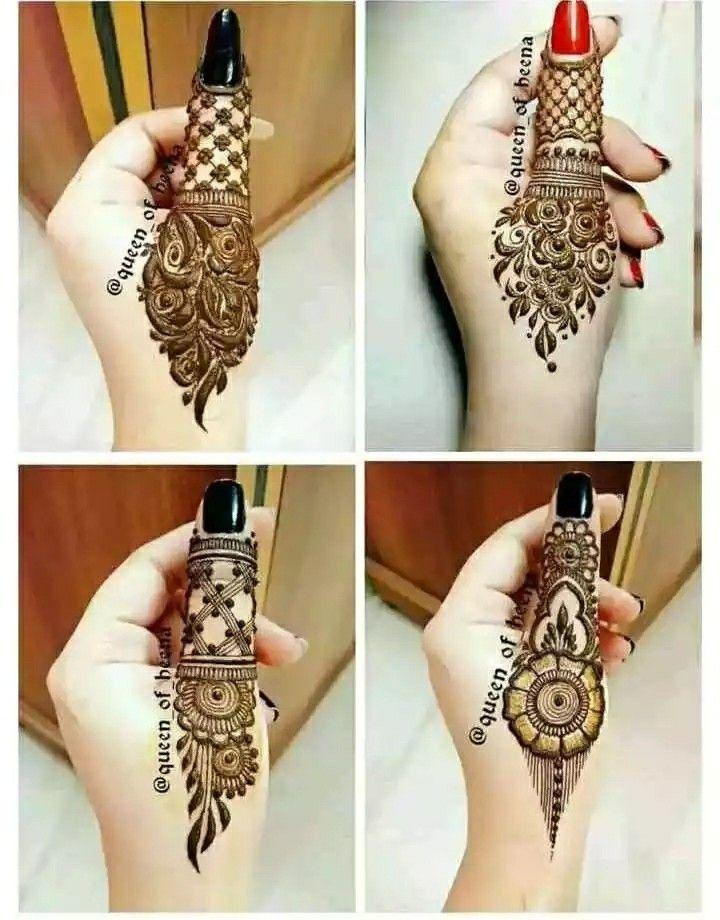 Arabic Dulhan Mehandi Dizain Photos (23)