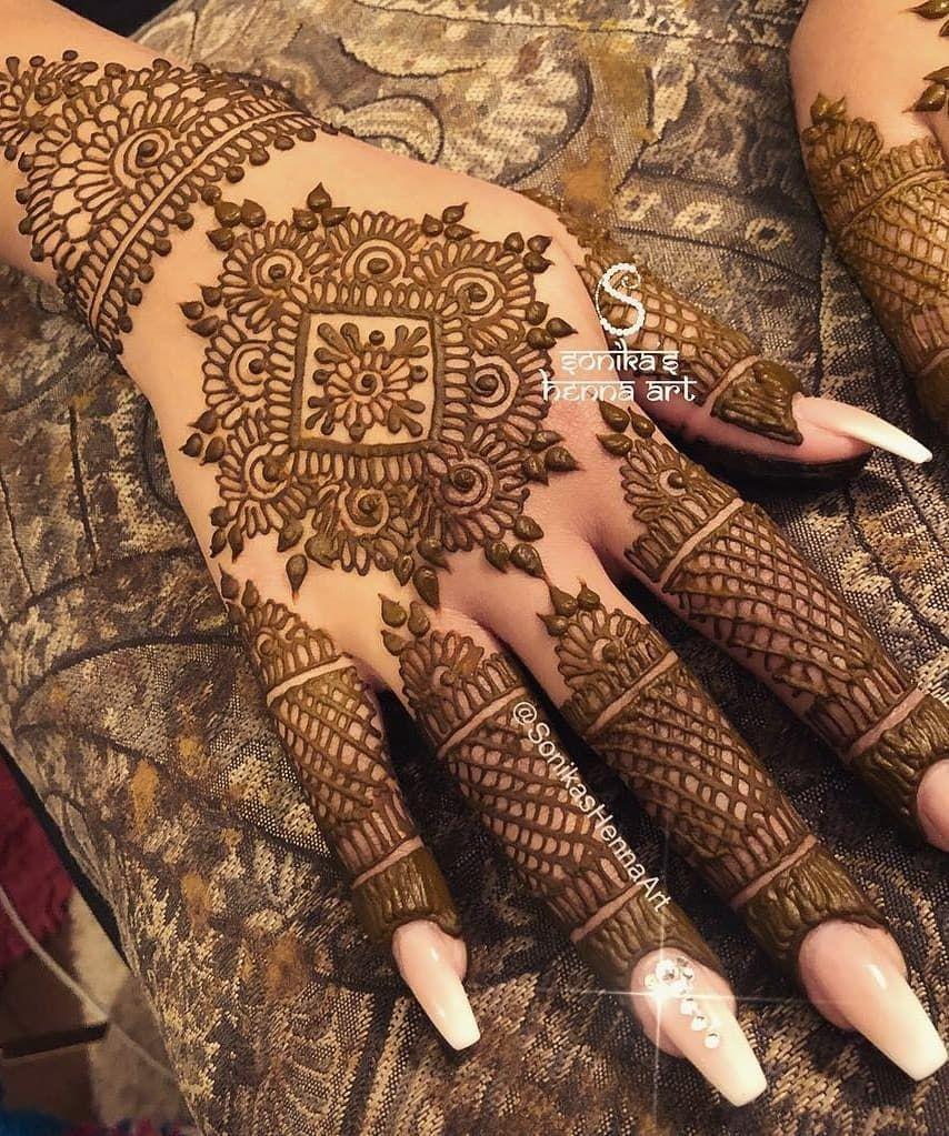 Arabic Dulhan Mehandi Dizain Photos (25)
