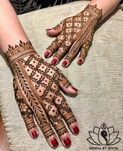 Arabic Dulhan Mehandi Dizain Photos (33)