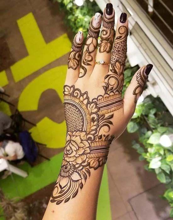Arabic Dulhan Mehandi Dizain Photos (36)