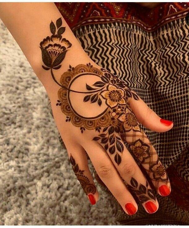 Arabic Dulhan Mehandi Dizain Photos (4)