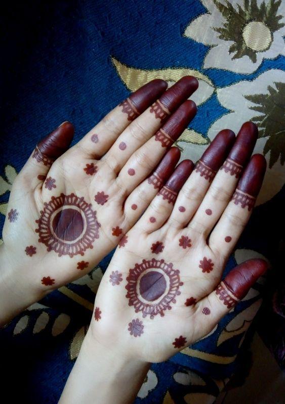 Arabic Dulhan Mehandi Dizain Photos (48)